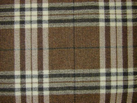 tartan plaid curtains tartan plaid check chenille mocha curtain fabric by the
