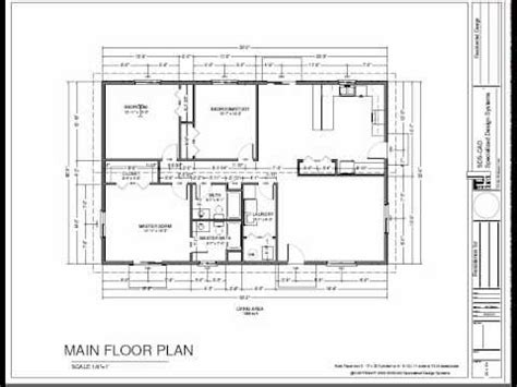 house plans on slab h74 ranch house plans 1600 sq ft slab 3bdrm 2 bth youtube