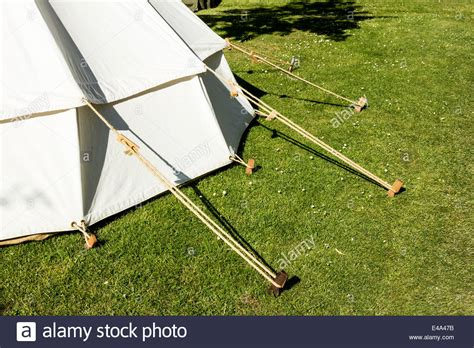 wooden tent traditional tent and wooden tent pegs stock photo royalty