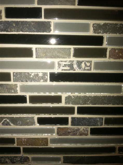 grouting glass backsplash dried grout on help mosaic backsplash