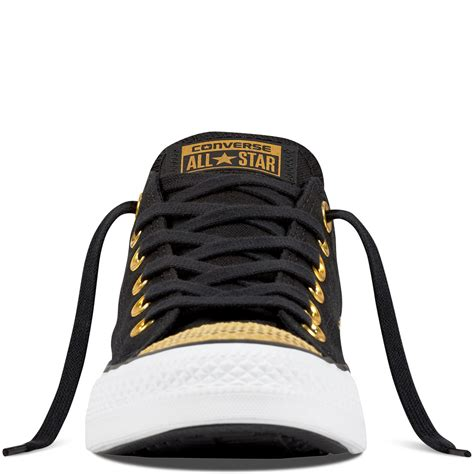 Converse Ct All Metallic Toecap Black converse chuck all metallic toecap black gold white