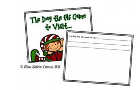 printable elf on a shelf book teach junkie inspiration downloads activities and more