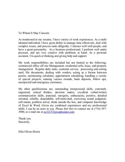 cover letter commercial real estate management