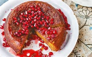 granatapfel kuchen orange and pomegranate cake
