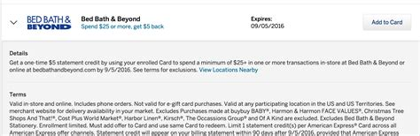bed bath and beyond login bed bath and beyond credit card login amex offers save
