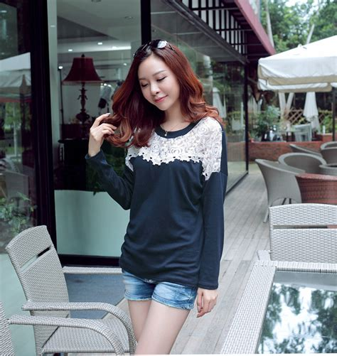 Grosir Baju Baju Korea T Shirt Midnight Baju Lebaran 2017 trendy t shirt sleeved wholesale