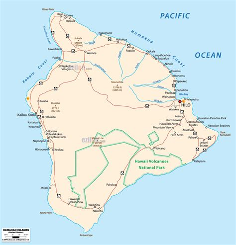 road map of hawaii political map of hawaii ezilon maps