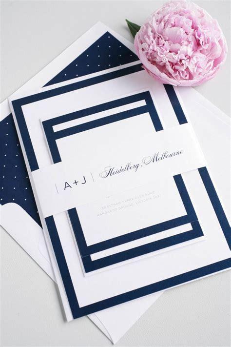 Navy Wedding Border by Navy Wedding Invitation Borders Simple Wedding Invite