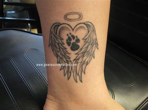 angel tattoo prints paw print tattoos with angel wings view more tattoo