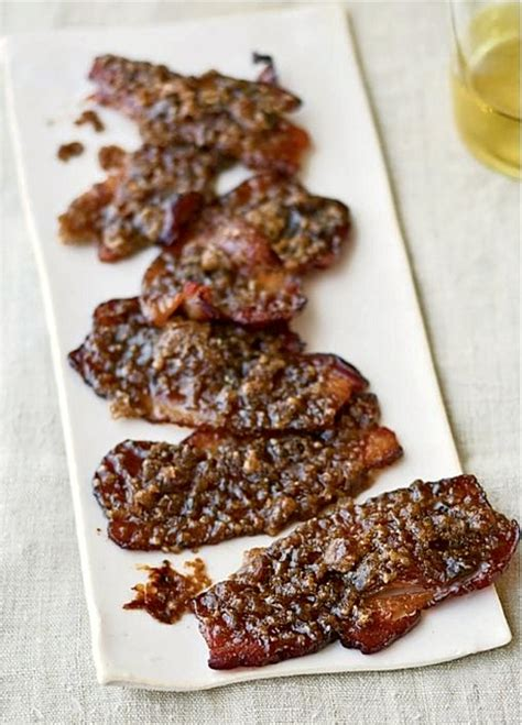 barefoot contessa parties recipes caramelized bacon hors d oeuvres from ina garten s