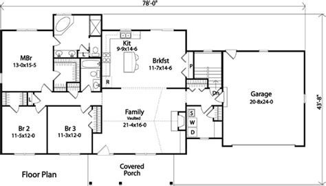Single Level Ranch House Plans by House Plan 49189 At Familyhomeplans