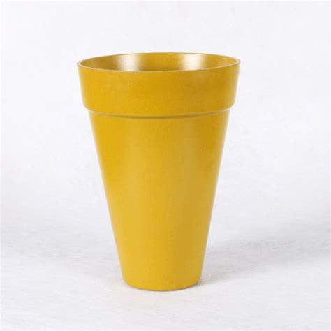 Mustard Vase Conical Taper Vase Color Mustard Size T 216 14 5cm X H20