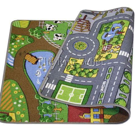 Childrens Play Rugs by Reversible Playmat Road And Farm Buy From The Rug