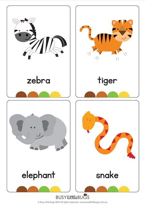 animal cards template our set of printable quot jungle animal flash cards quot are a