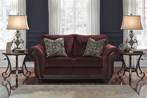 Burgundy Loveseat by Chesterbrook Burgundy Loveseat From 8810235
