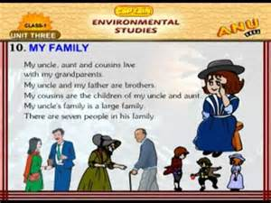Essay On My For Class 1 by Evs Chapter 10 My Family For
