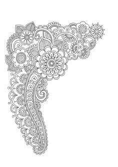 mandala coloring pages jumbo coloring book circle henna on paper google search zentangle