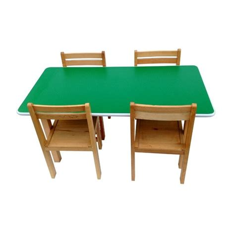 school study table beech wood preschool classroom school tution centre