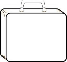 blank suitcase template colorless suitcase clip at clker vector clip