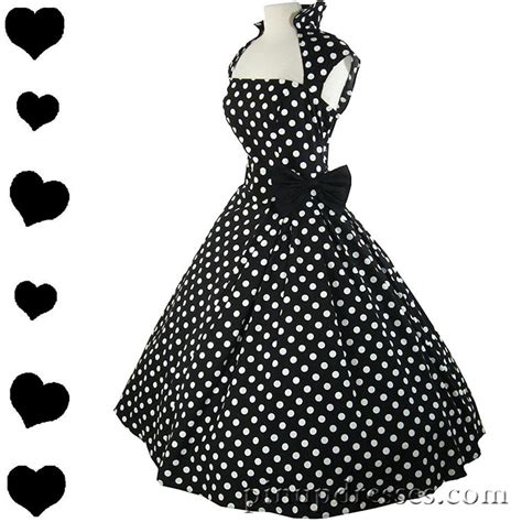 polka dot swing dress new retro polka dot rockabilly full skirt swing dress