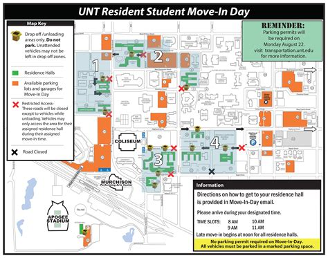 unt parking map unt map my