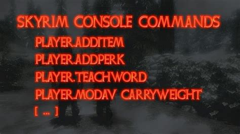 console codes skyrim skyrim cheats and console commands mmo eu