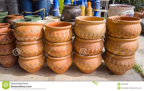 Plant Containers For Sale Garden Plant Pots Stock Photo Image 53537982