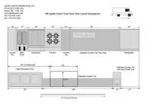 food truck floor plans food truck floor plans schematics and layouts for apollo food trucks