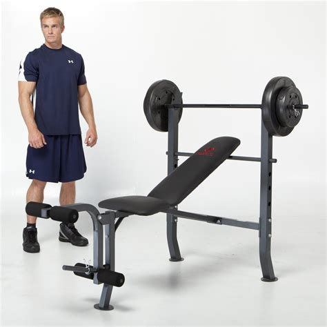 marcy diamond bench and weight set 80 pound marcy 174 opp bench 80 lb weight set 213309 at sportsman s guide
