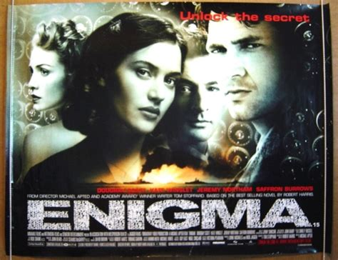 british film about enigma enigma original cinema movie poster from pastposters com
