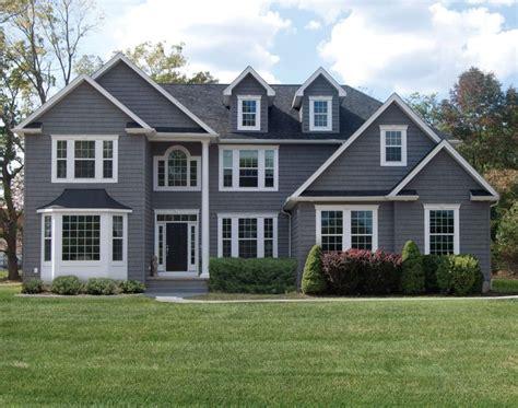 Grey House White Trim grey house with white trim renovation inspiration