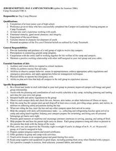 Summer C Sle Resume by Resume Objective For C Counselor Bestsellerbookdb
