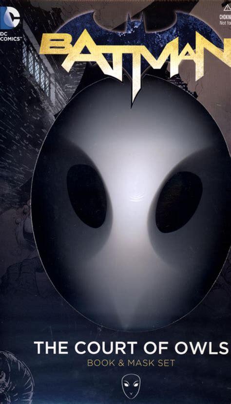 batman noir the court of owls books batman court of owls book mask set n52 discount