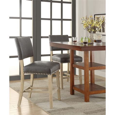 Ave Six Bar Stools by Ave Six Carson 41 In Counter Stool In Pewter Csn24 Bd4