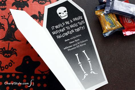 halloween coffin invitations fun family crafts