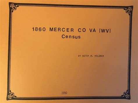 Mercer County Records Mercer County 1860 Census Tazewell County Historical Society