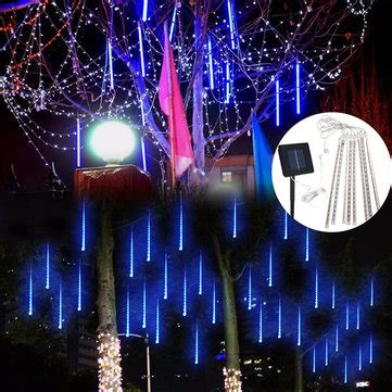 how to make raining lights in a tree solar powered 30cm 8 led meteor shower garden tree outdooors light sale