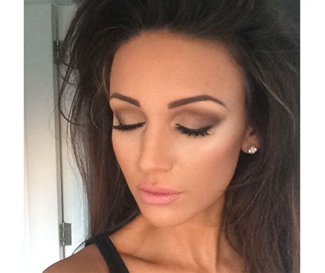 whst kind of makeup does k michelle wear michelle keegan s smokey beauty look how to look