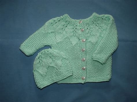Free Pattern On Ravelry Bright Baby Cardigan And Hat