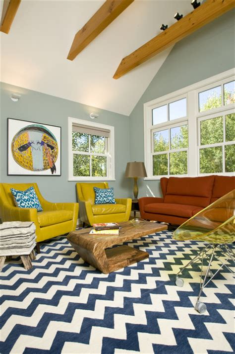 Grace Home Design Inc | vibrant family room grace home design eclectic
