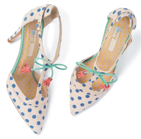 polka dot high heel shoes shoe of the day boden polka dot high heel t bar