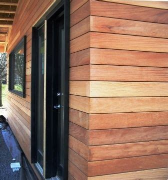 Garapa hardwood rain screen siding   Hawaii home