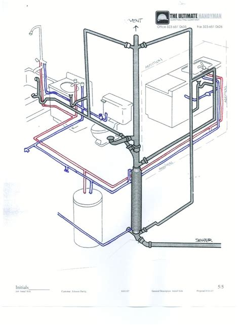 Residential Plumbing Supply And Cold Water Supply System Diagram Home Plumbing