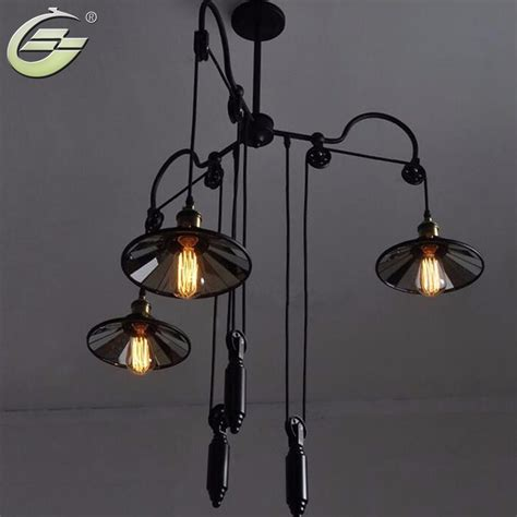 Mirror Pendant Light Vintage Industrial Mirror Pendant Lights Wrought Iron Lighting Fixture Pl090 Free Shipping In