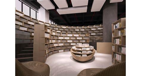 Interior Home Office Design Tongji Bookstore Interior Design Bookcase
