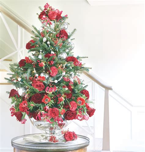 party ready tabletop christmas tree flower magazine