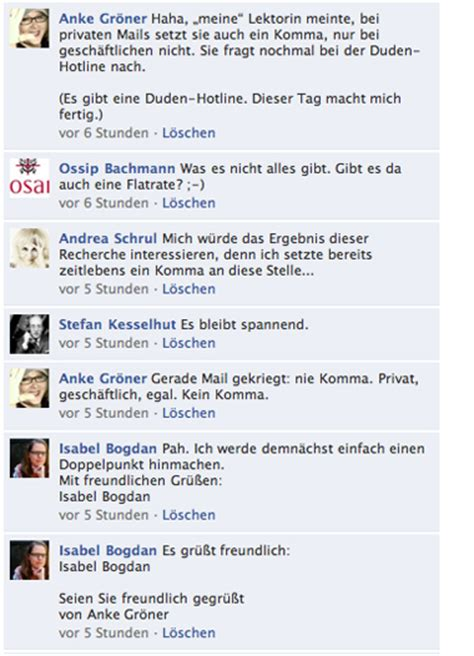Mit Freundlichen Grüßen Komma Oder Kein Komma Anke Gr 246 Ner 187 Archive 187 Favorite Entries 2010