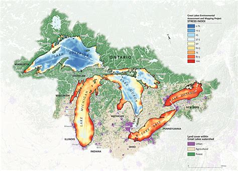 map of canada and lakes pollution in the great lakes canadian geographic