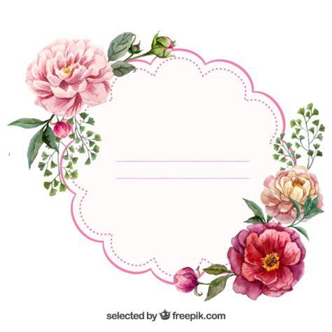 design flower tag etiqueta floral watercolor labels free decoupage and
