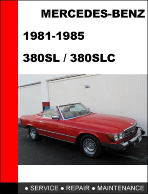 free online auto service manuals 1987 mercedes benz sl class electronic toll collection mercedes benz 380sl 380slc 1981 1985 service repair manual down